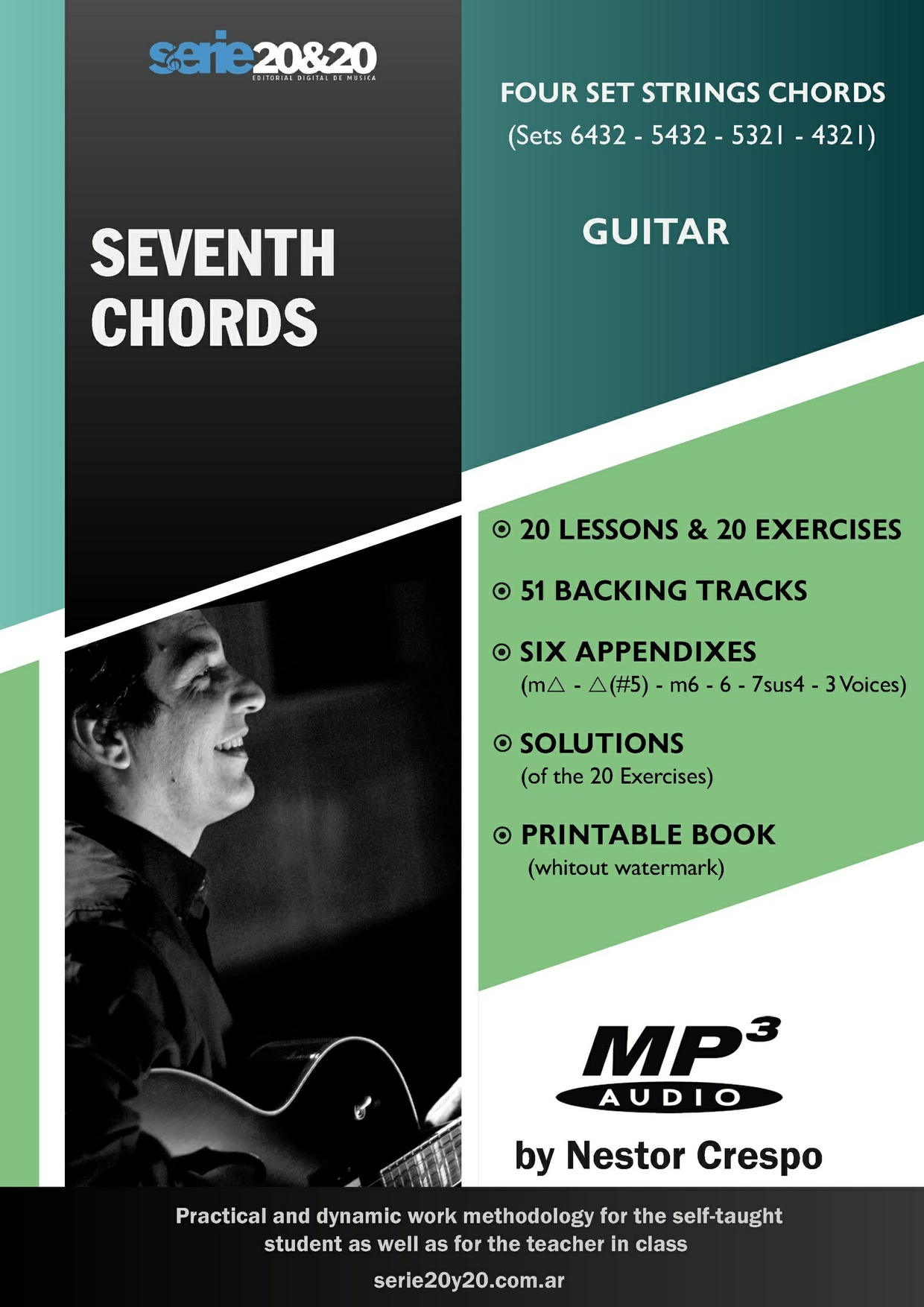 GUITAR / Seventh Chords  (with 51 Backing Tracks and Solutions)