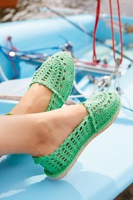 Crocheted Espadrilles