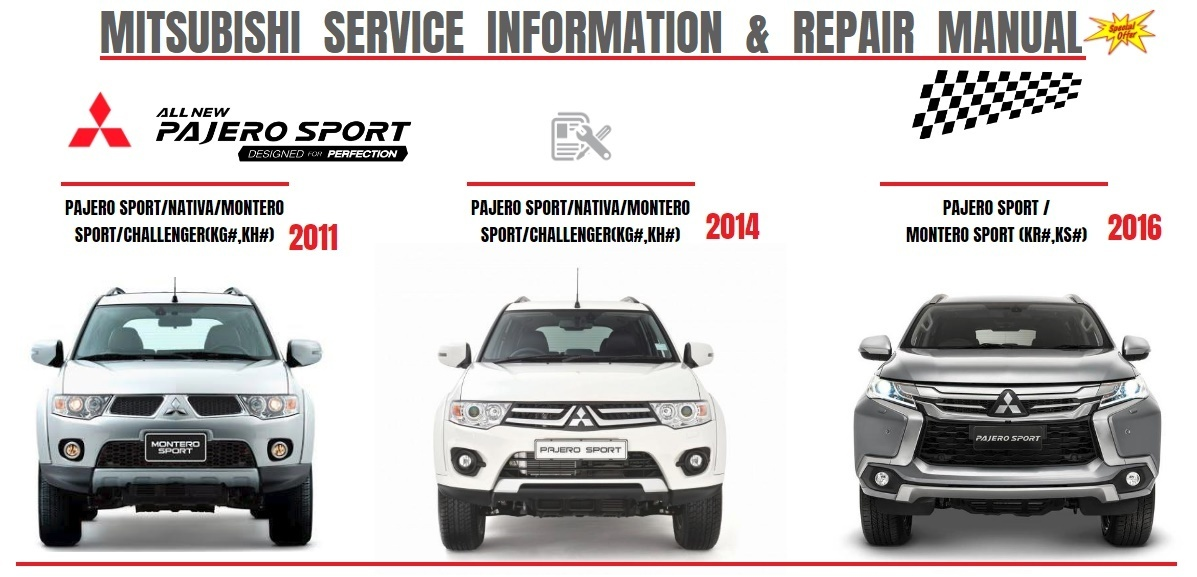 MITSUBISHI PAJERO MONTERO SPORT 2011/2014/2016 WORKSHOP MANUAL