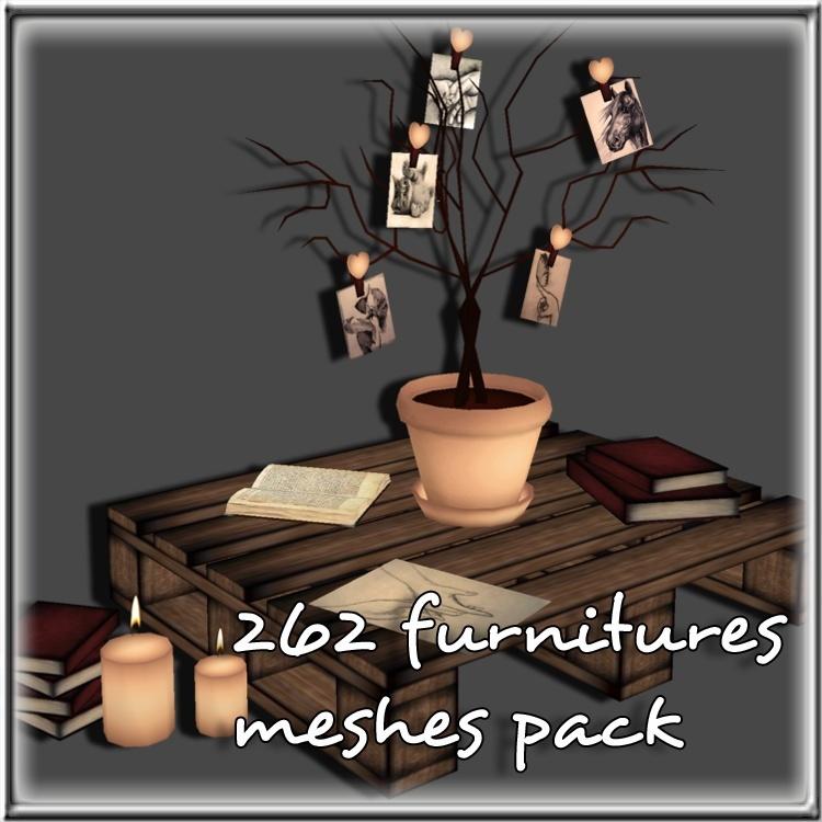 Furnitures Bundle 262 Meshes