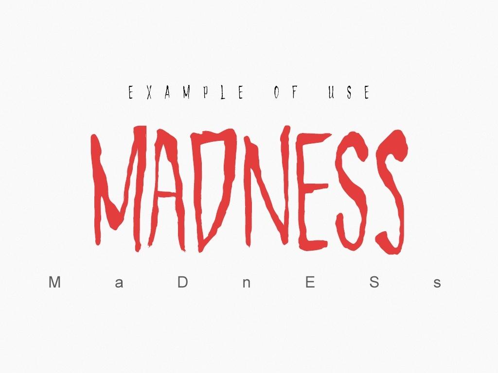 Uncut Madness - Font