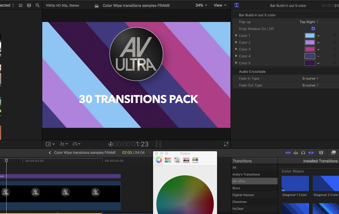 AV-Ultra 30 4K Color Wipe Transitions
