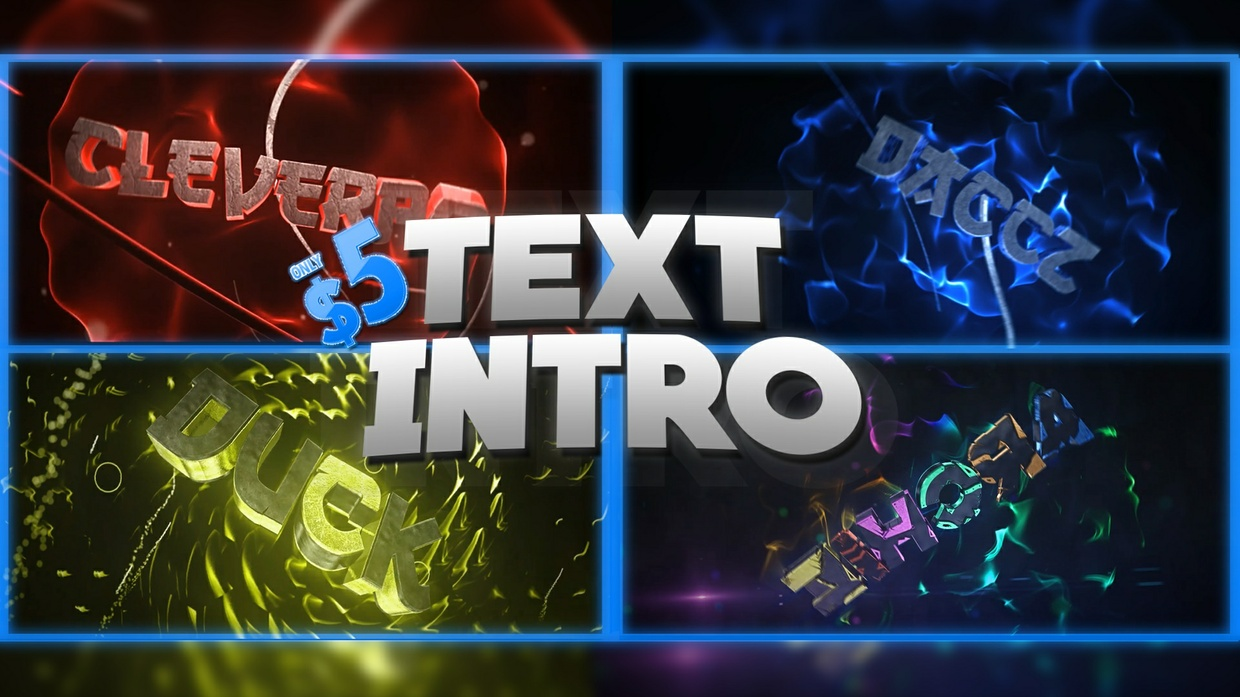 3D TEXT INTRO (1080p60) [HQ]
