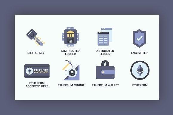 Bitcoin / CryptoCurrency / Blockchain Icon Set