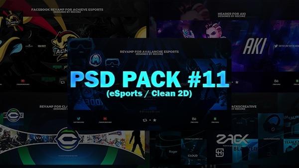 PSD Pack #11 (eSports & Clean 2D)