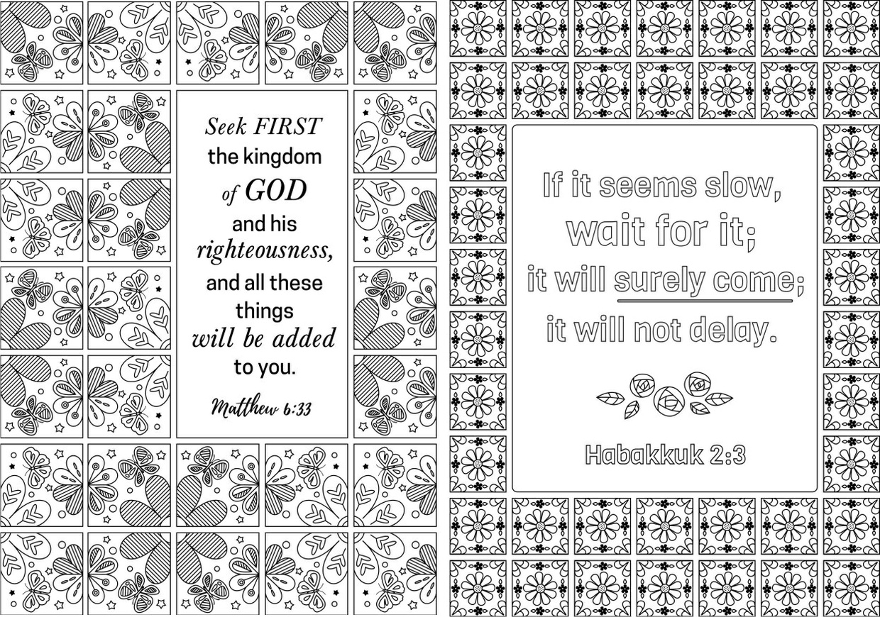 12 Bible Coloring Pages