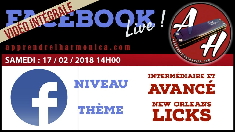 Vidéo du Facebook Live - 17 02 2018 - 2h50 de cours en direct live - (french)