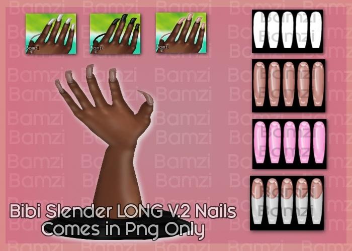 Bibi Slender v2 Nails PNG Only