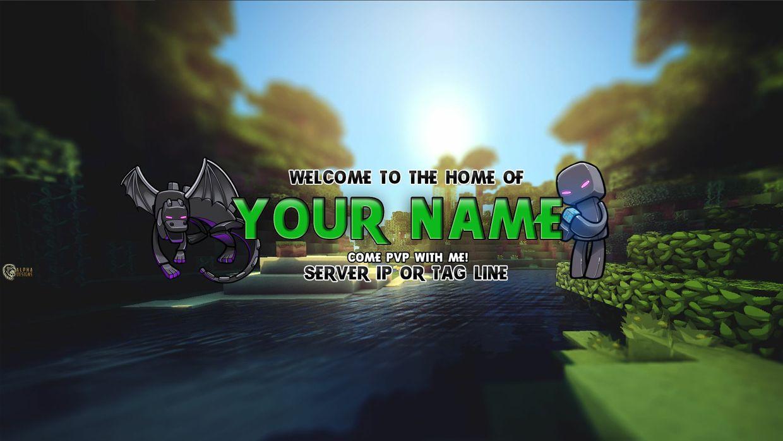 58 Banner Template Minecraft Psd Banner Minecraft Psd Template
