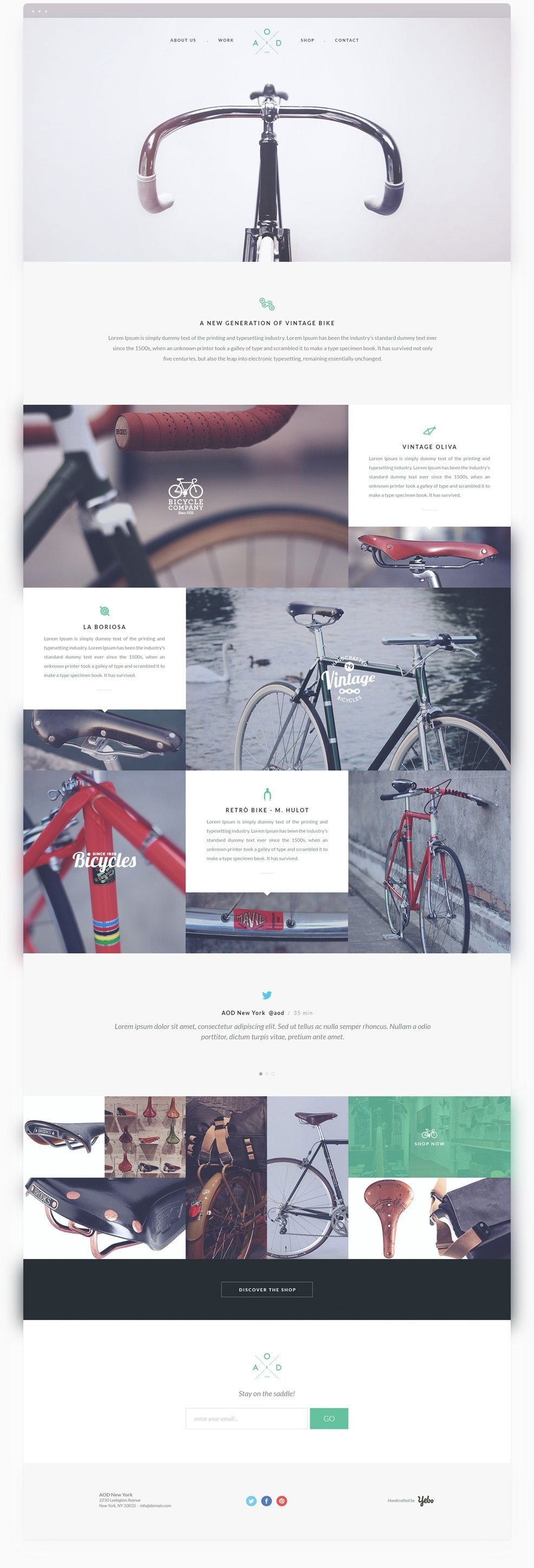 Yebo Bycicle Free PSD Template