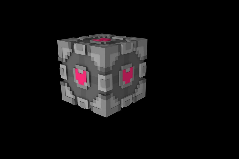 minecraft portal companion cube v2 cabooseys sellfy com