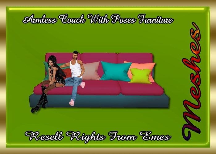 Armless Couch & Poses Furniture Catty Only!!!