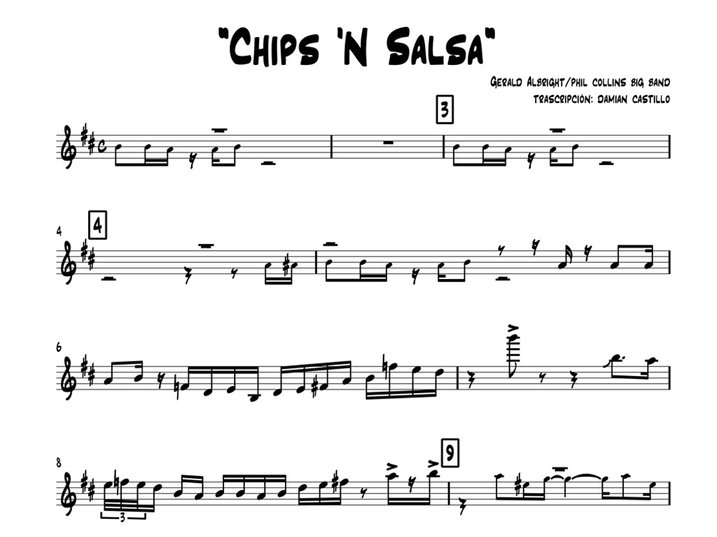 "Gerald Albright with Phil Collins Big Band - ""Chips 'N Salsa"" - Sax alto"