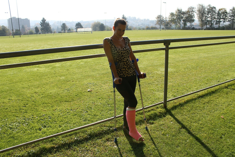 Theresa mit SLC am spazieren