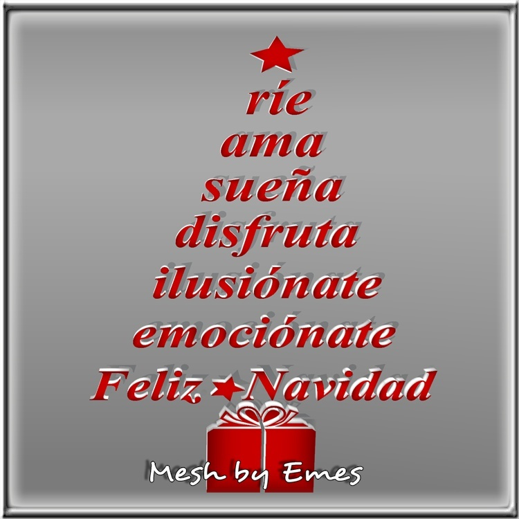 Mesh-Christmas Tree Spanish Quote