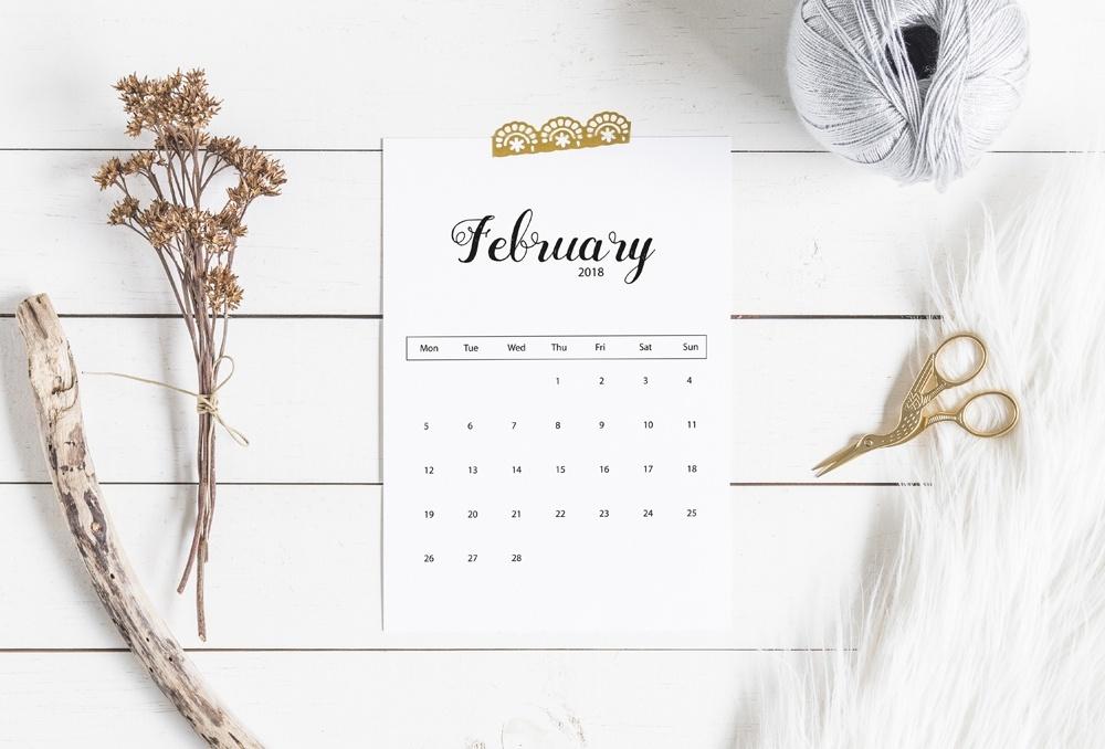 printable 2018 calendar - February