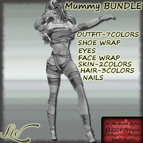 Mummy BUNDLE-7 Colors NO RESELL RIGHTS