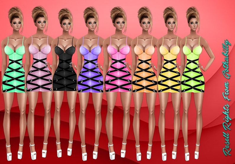 Candy Pvc Dresses Catty Only!!!