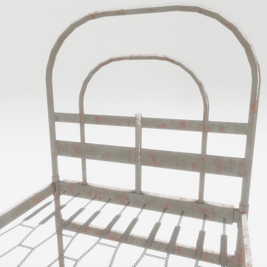 Bed (rusty) - PBR 3D Model
