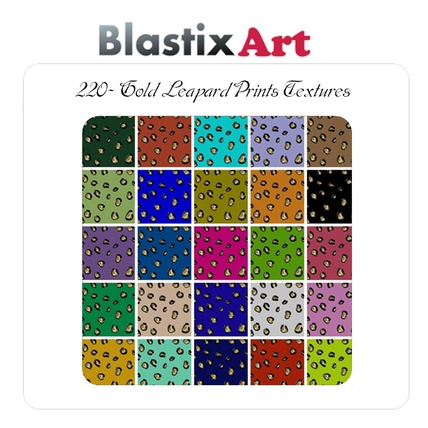 220-Leopard  Gold  Prints Textures