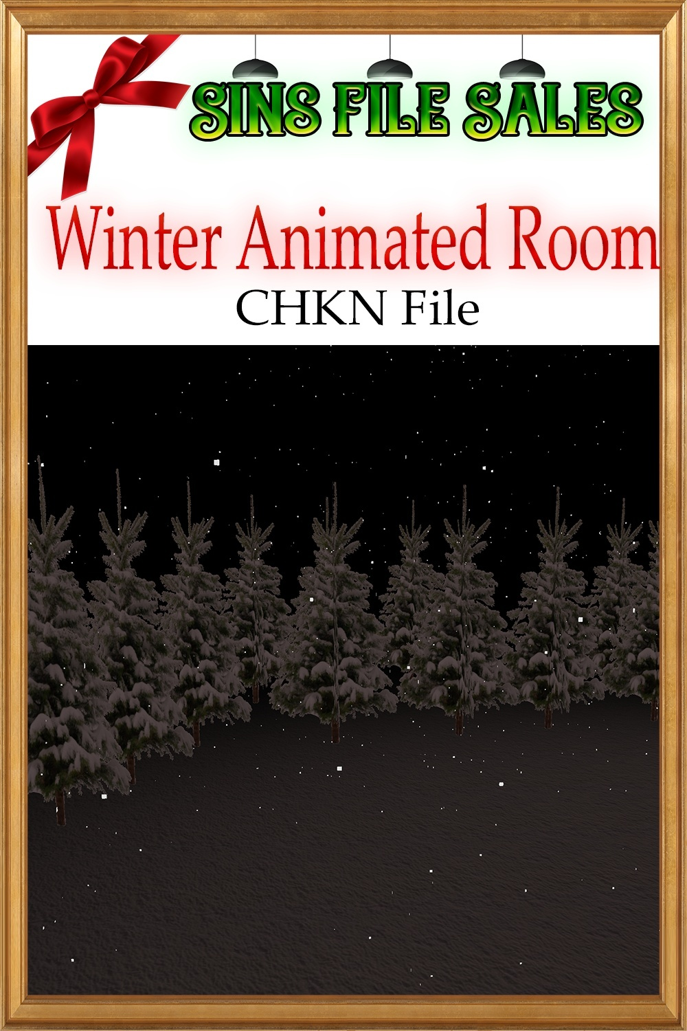 Winter Room Mesh *Animated Snow* Chkn