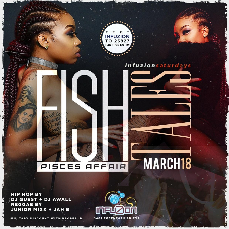 Fish Tales - Pisces Club Flyer