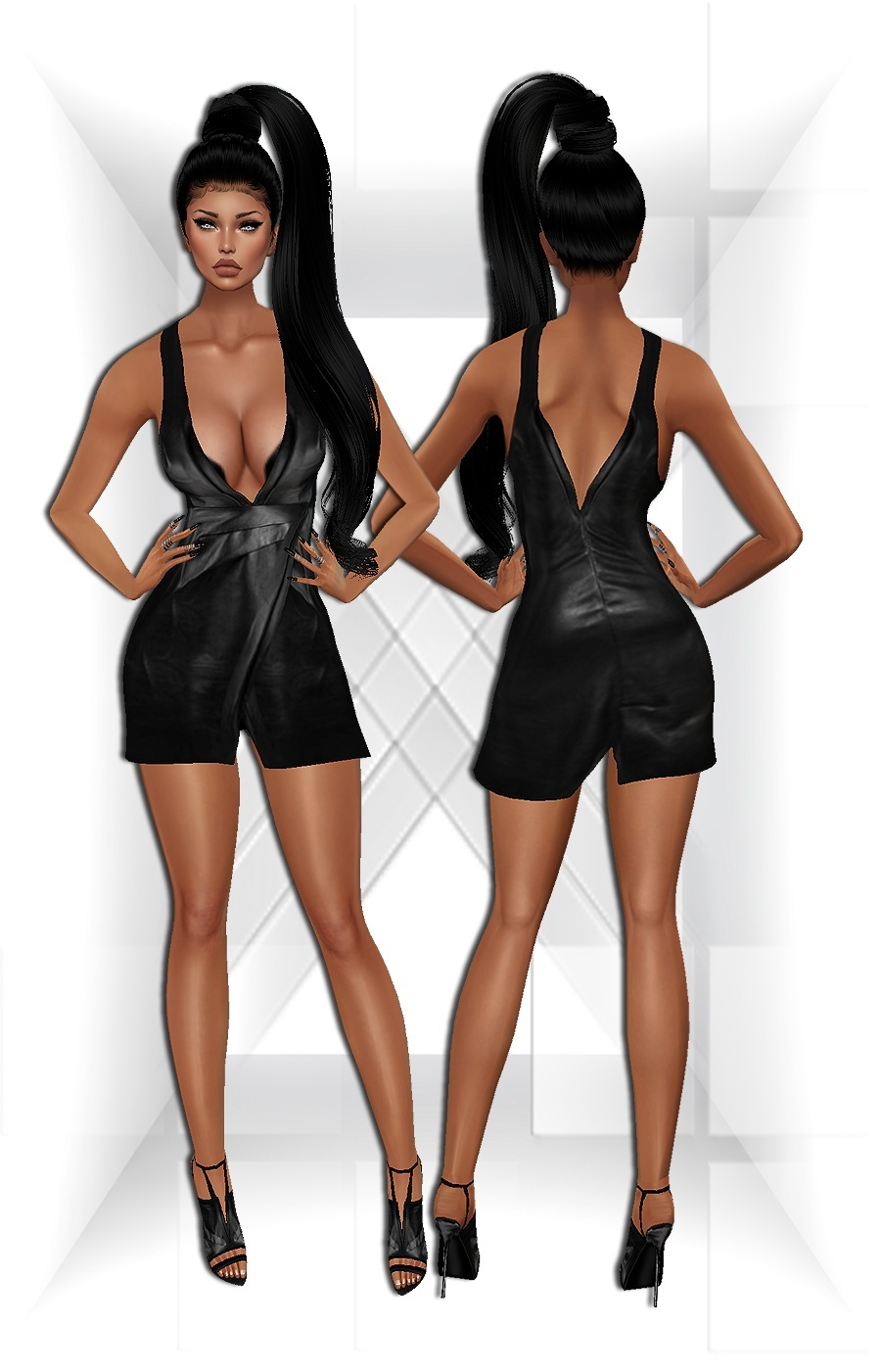 Leather Dress Set