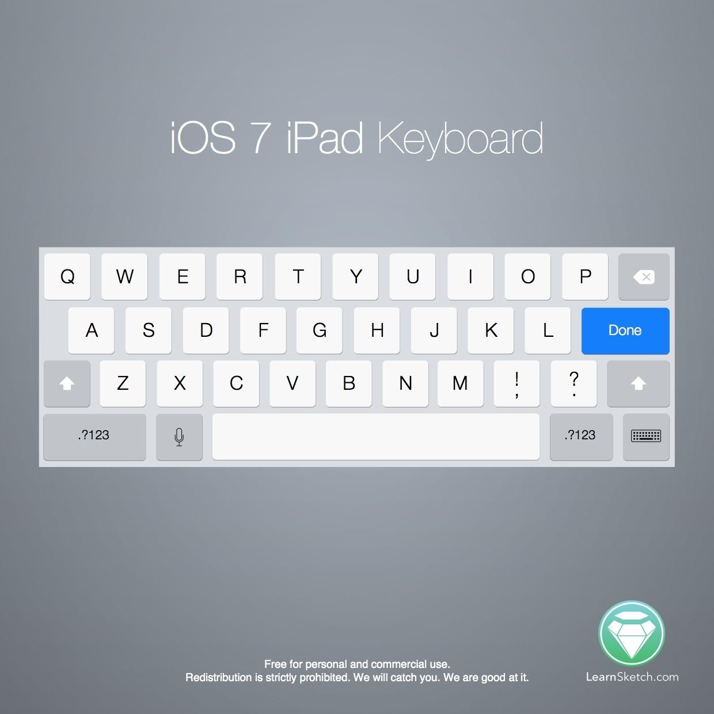 iOS 7 iPad Keyboard