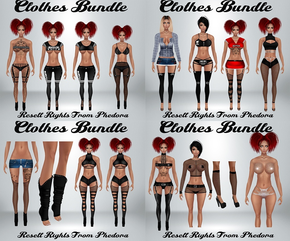 Clothes Bundle - Various Catty Only!!! (32 Files)
