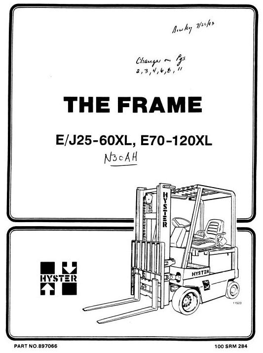 Hyster Electric Forklift Truck Type B210: N30AH Workshop Manual