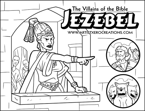 king jehu of israel coloring pages | King Ahab And Jezebel Coloring Pages Sketch Coloring Page