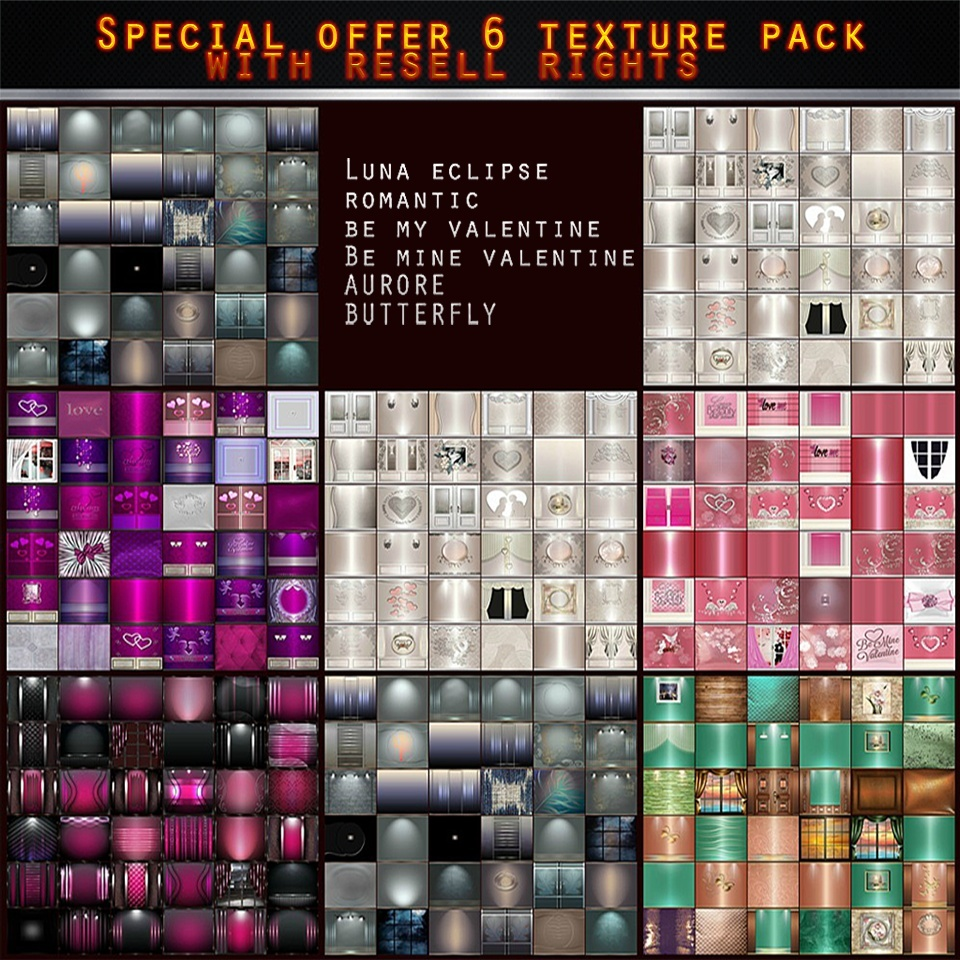 SPECIAL OFFER -TEXTURE  WITH RESELL RIGHTS 6 PACKS