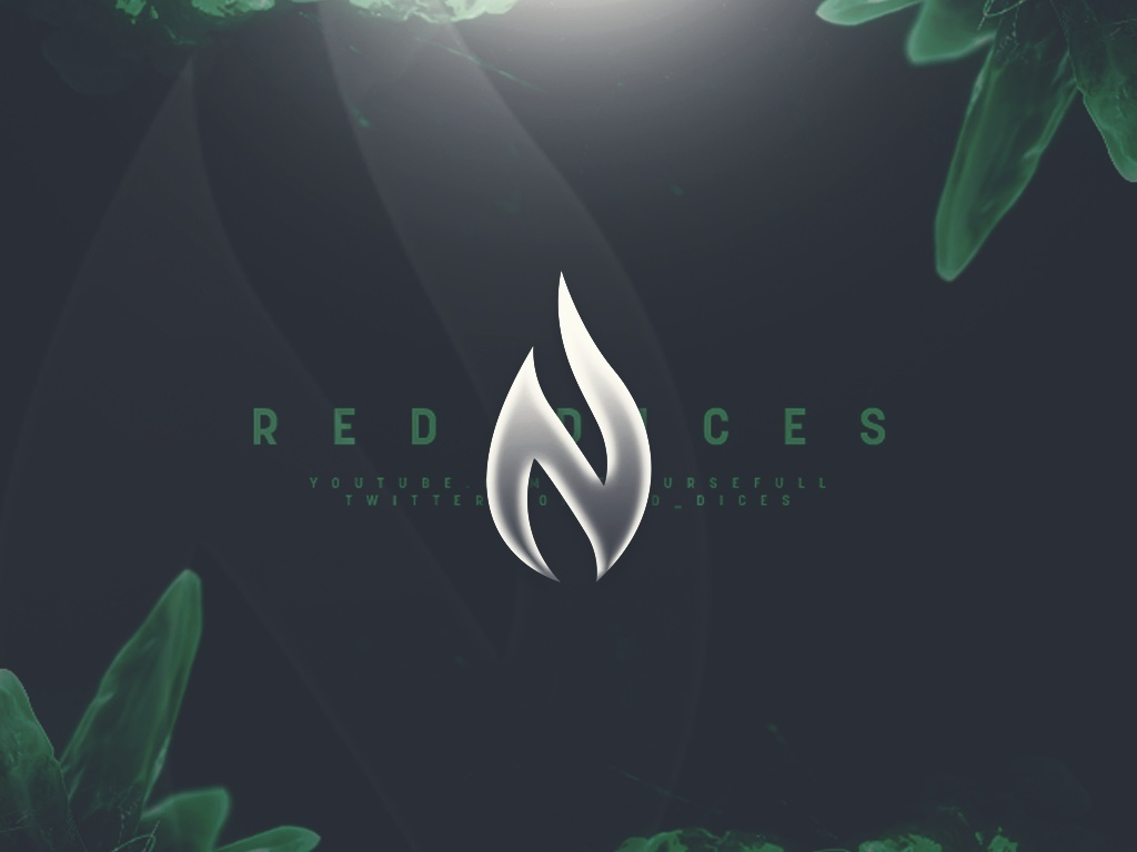 """""""The Emerald"""" Red Dices Header PSD"""