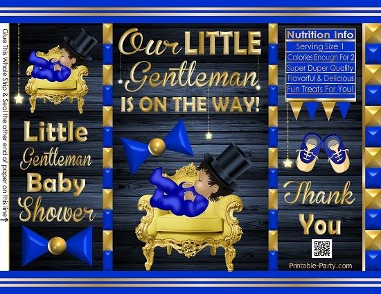 POTATO-chip-treat-favor-bags-little-gentleman-BABY-SHOWERbluegold