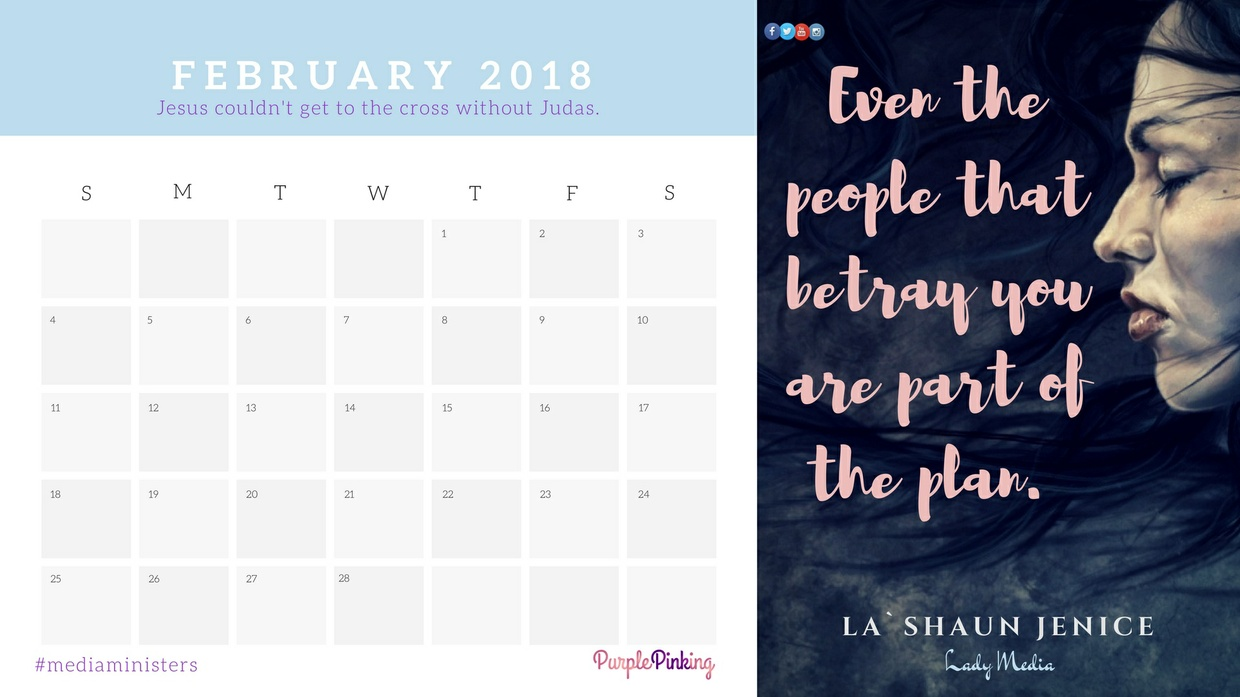 2018 Monthly Motivation Printable