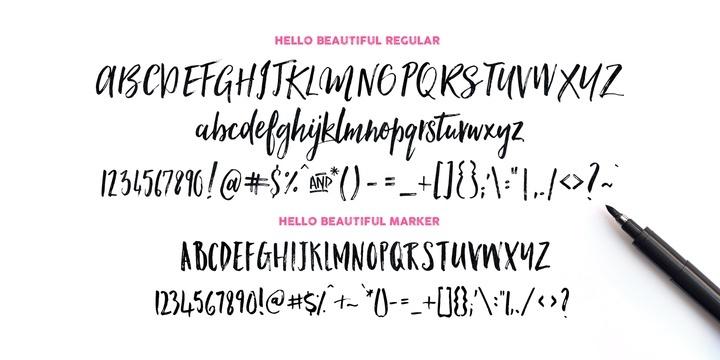 Hello Beautiful | Font Family
