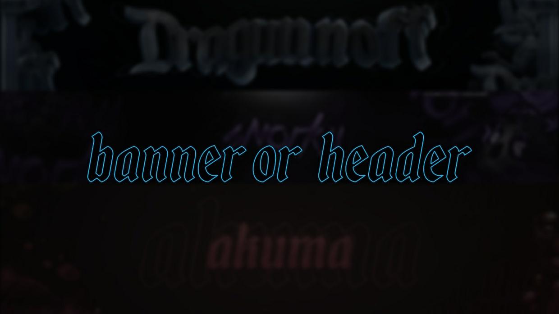CUSTOM HEADER / BANNER