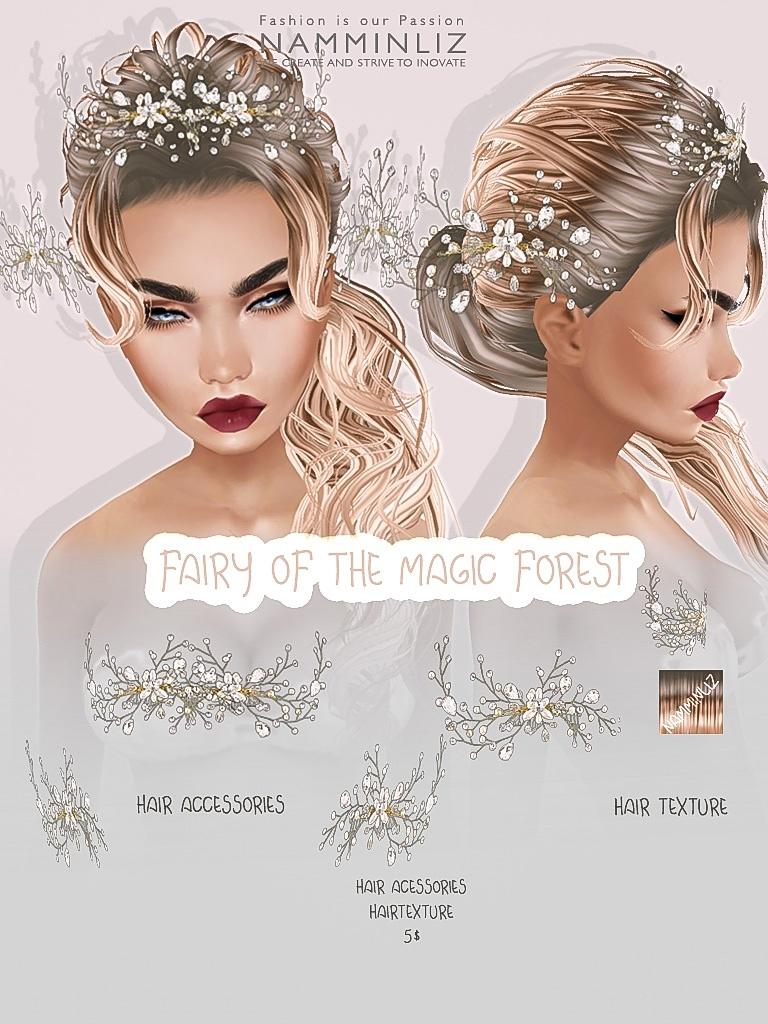 Fairy of the magic forest imvu accessories & Hair texture JPG