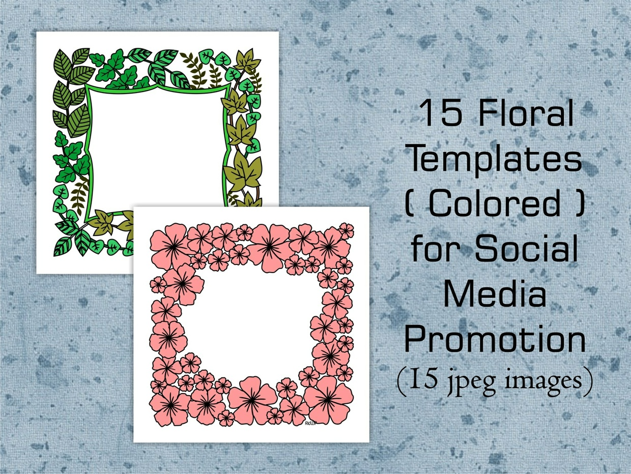 15 Colored Floral Templates for Social Media Promotion