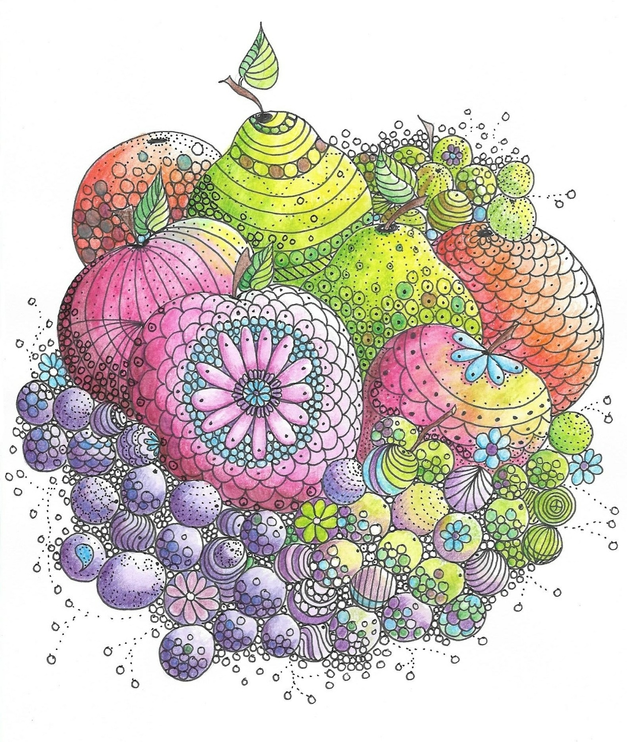 Tooty Fruity Coloring Page