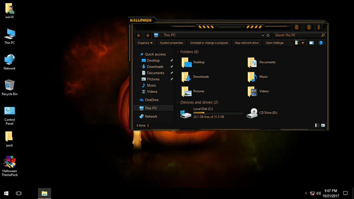 MyHalloween ThemePack for Win 7/8.1/10RS2
