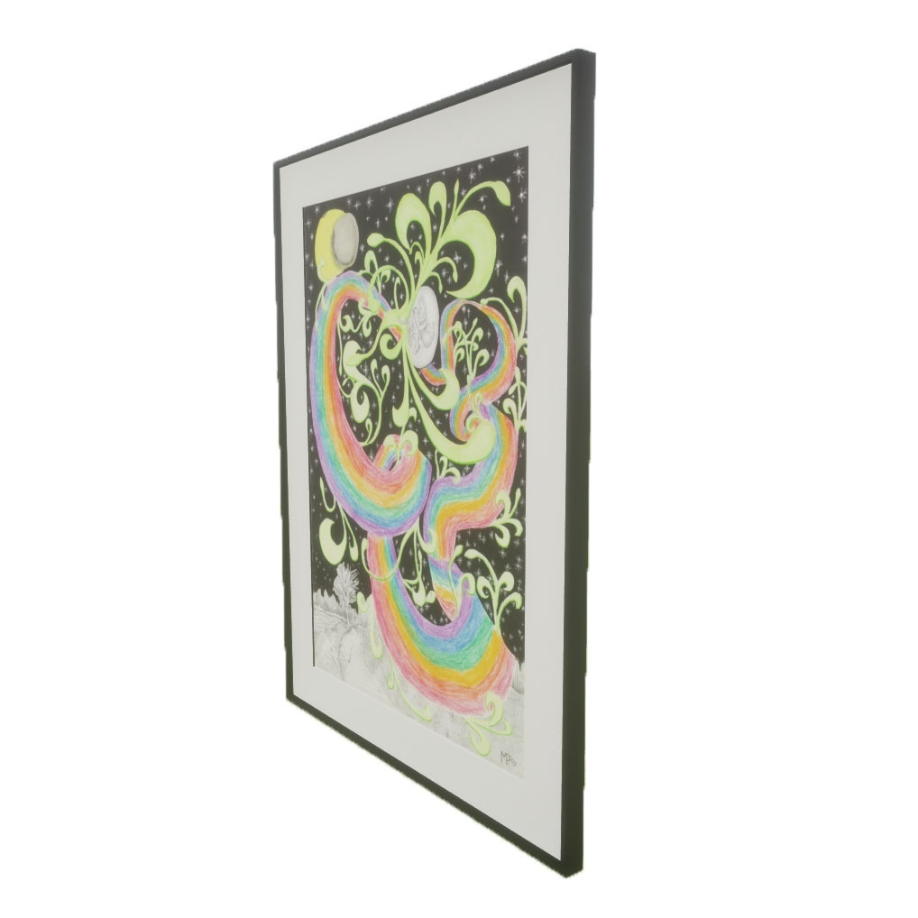 Picture Frame - Love and Life - PBR 3D Model