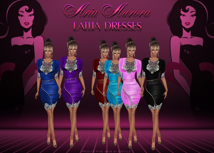 Latija Dresses Made on Sis3D Meshes+ PSD Files,Resell Right !!