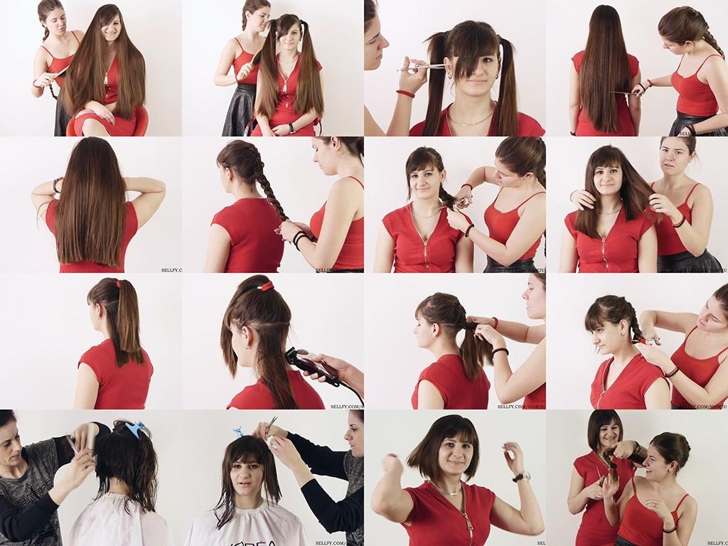 Emina Very Long to Bob Haircut