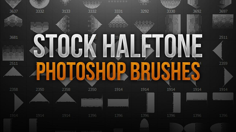 Halftone Stock Photoshop Brush Pack