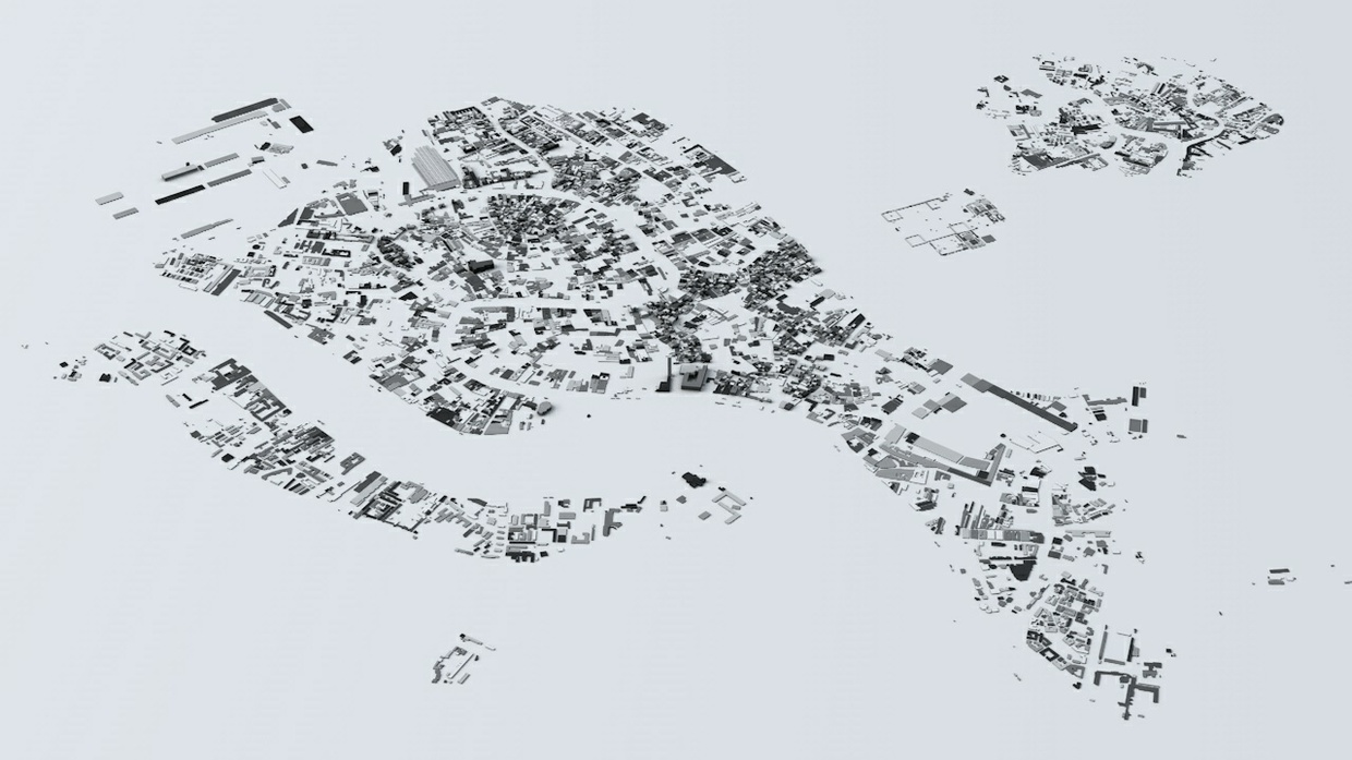 Venice Streets and Buildings Architectural 3D Model