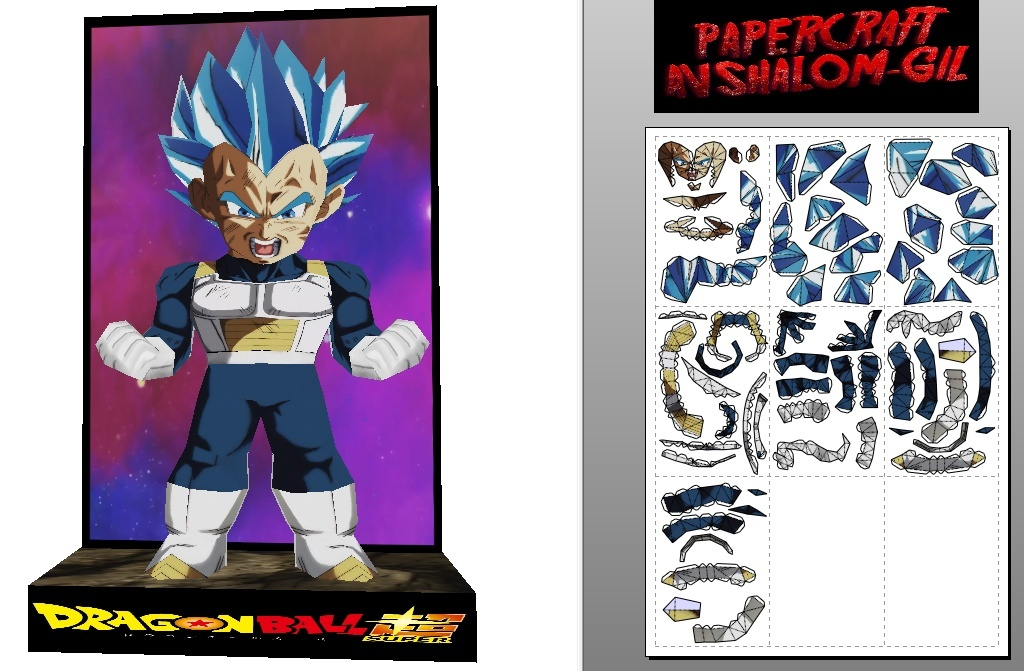 Papercraft vegeta blue perfect