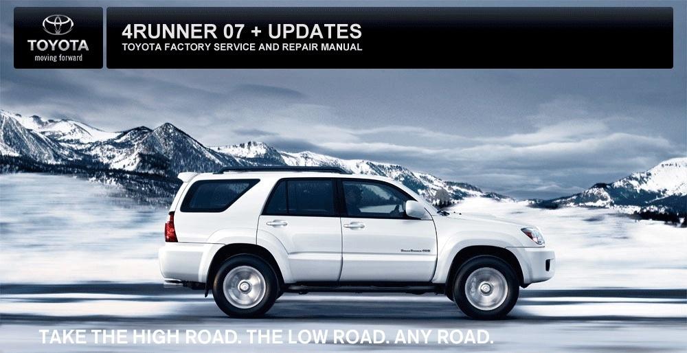 2007 Toyota 4runner Maintenance Manual
