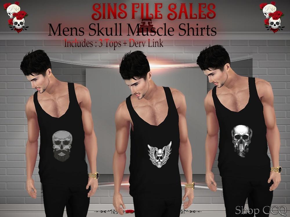 Skull Muscle Shirt Set