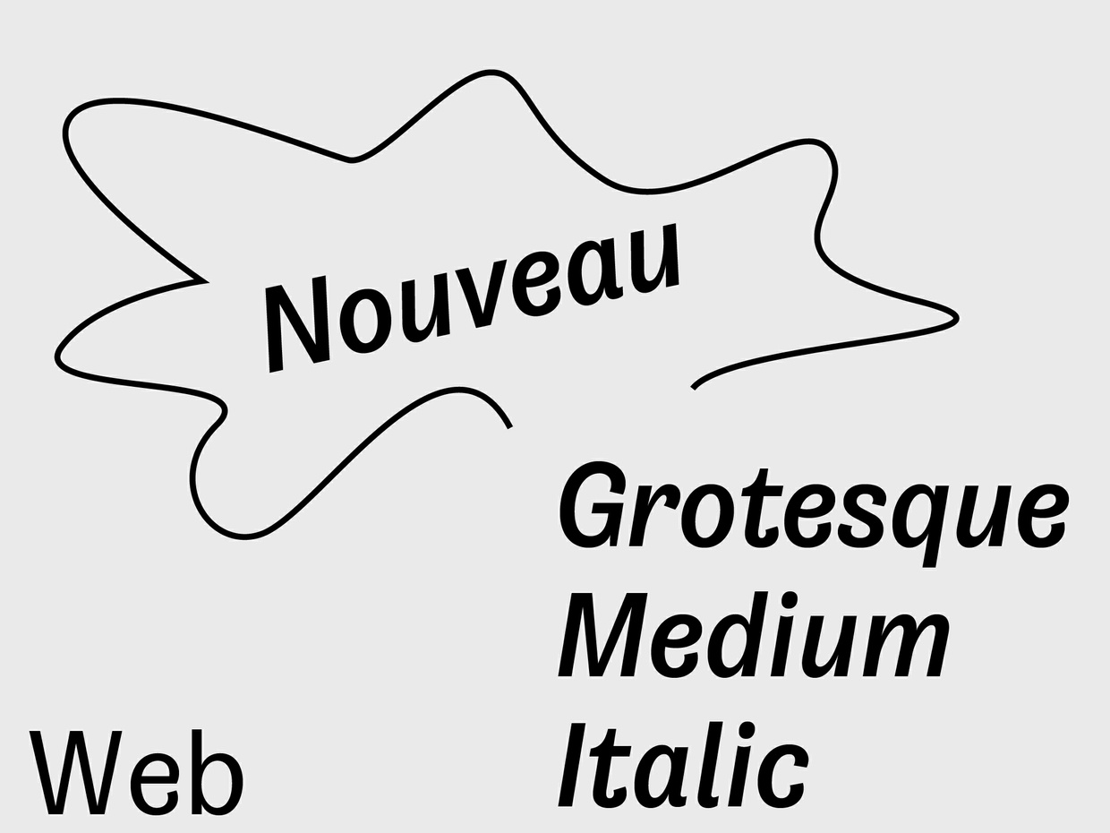 Nouveau Grotesque Medium Italic Web 10.000 Pageviews